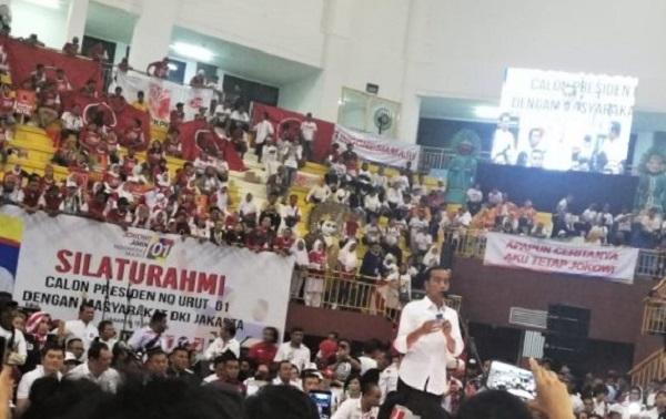 Kampanye Jokowi di GOR Ciracas Terlihat Sepi