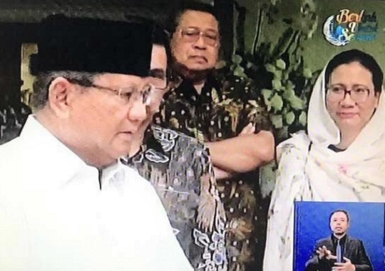 Gestur SBY Berubah Ketika Prabowo Ungkit Pilihan Politik Ani Yudhoyono